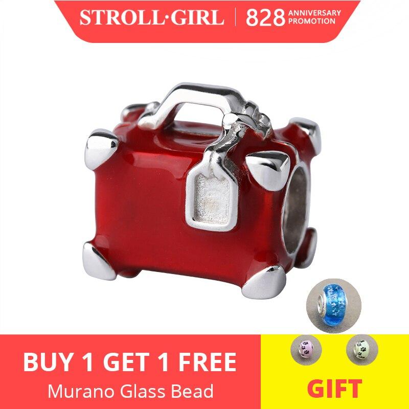 Strollgirl Charms Suitcase Bracelet Silver-Beads Original Pandora Jewelry-Making 925