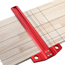 300/400/500mm Woodworking Square 1mm Per Hole Marking Guage Aluminum Alloy 90 Degree T Ruler Scriber for Carpenters