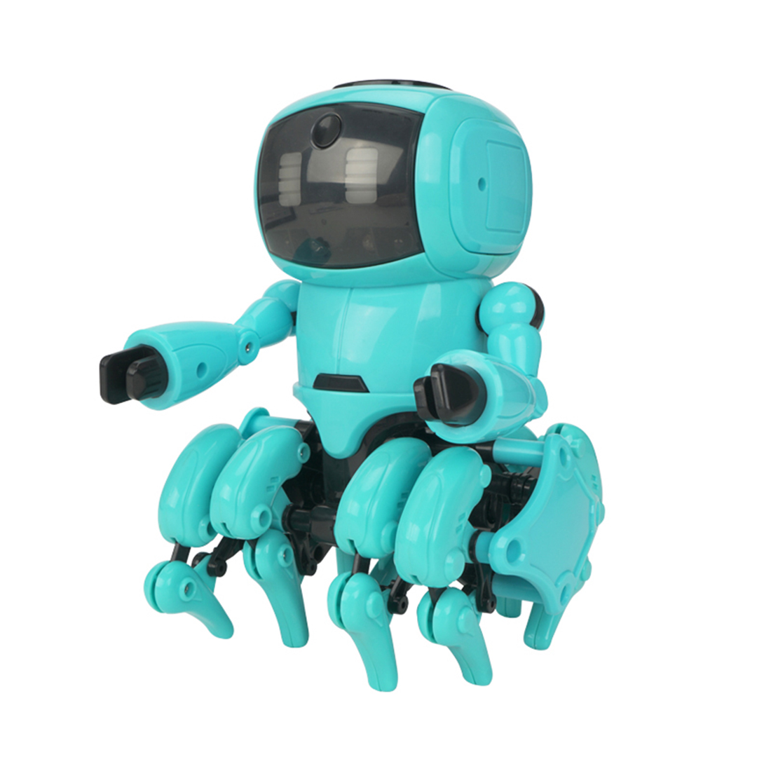 DIY Little Eight Robot Assembly Smart Follow Robot Infrared Obstacle Avoidance Gesture Sensing Toy For Kids Early Education Toys