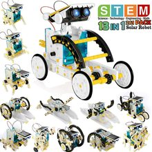 Toy Robot-Kit Science-Experiment-Kit Educational 13-In-1 Building-Toys Solar-Powered-Stem