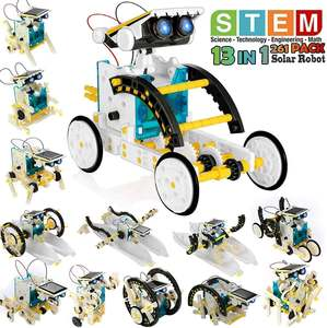 Toy Robot-Kit Solar-Powered-Stem 13-In-1 Educational Science-Experiment-Kit Building-Toys