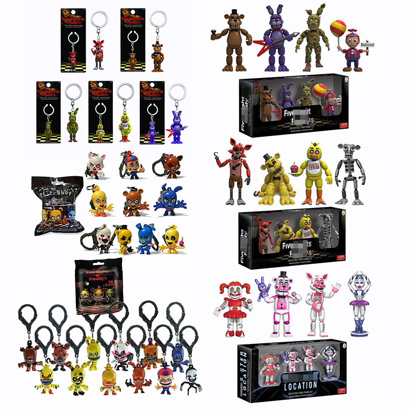 Five Nights At Freddy Keychain FNAF Toys Action Figures 5CM Anime PVC FNAF Blind Bag For Halloween Gifts