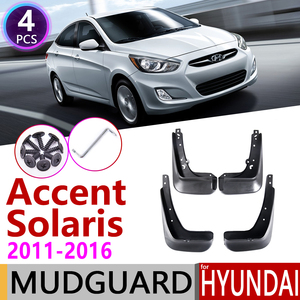Image 1 - Автомобильный брызговик для Hyundai Accent Solaris RB 2011 ~ 2016, брызговик, щитки от грязи для Hyundai Accent 2012 2013 2014 2015