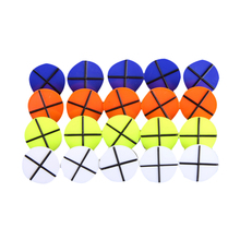 Lot 20PCS PLASTIC ROUND MIXED COLOR GOLF BALL MARKERS GOLFER TRAINING AIDS New