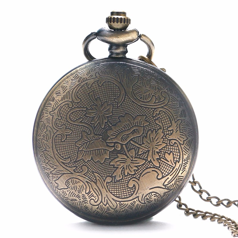 Купить с кэшбэком Retro Bronze Clock and Accepted Masons All-seeing Eye Pattern Men Women Quartz Pocket Watch With Necklace Chain Gift