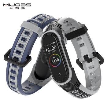 Pour Mi bande 5 Bracelet Sport Silicone montre Bracelet pour Miband 4 sangle Bracelet intelligent pour Xiaomi Mi bande 3 bandes Mi bande 5 sangle