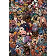 Michelangelo Houten Puzzel 500 1000 1500 2000 Stuks Hond Groep Foto Cartoon Dieren Kid Educatief Speelgoed Schilderen Decor