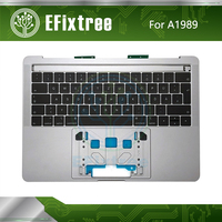 New1989 Keyboard Topcase Backlight US UK French Spanish German Russian For Macbook Pro Retina 13 Top Case Palmrest Replacement