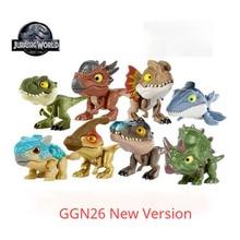 Jurássico mundo snap squad dinossauro ggn26 tyrannosaurus rex velociraptor figura de ação brinquedos para crianças aniversário presente das crianças
