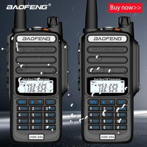 2pcs Baofeng IP68 방수 워키 토키 장거리 25km UV-9r 플러스 시대 플러스 cb 햄 라디오 hf 송수신기 UHF VHF 라디오 방송국
