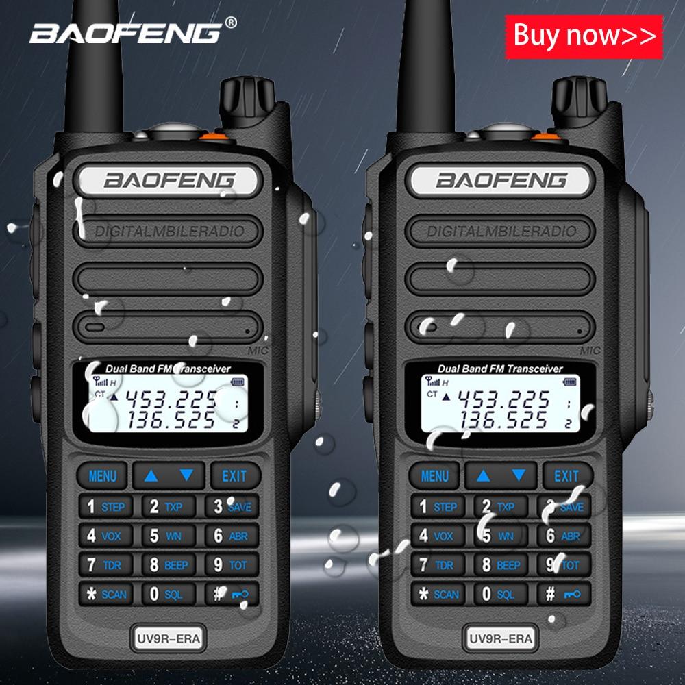 2pcs Baofeng IP68 Waterproof Walkie Talkie Long Range 25km UV-9r Plus ERA Plus Cb Ham Radio Hf Transceiver UHF VHF Radio Station