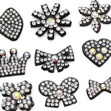 10 шт. патчи в форме сердца/короны/цветка/банта стразы в форме кристаллов AB аппликация для одежды/платьев аксессуары для шитья своими руками
