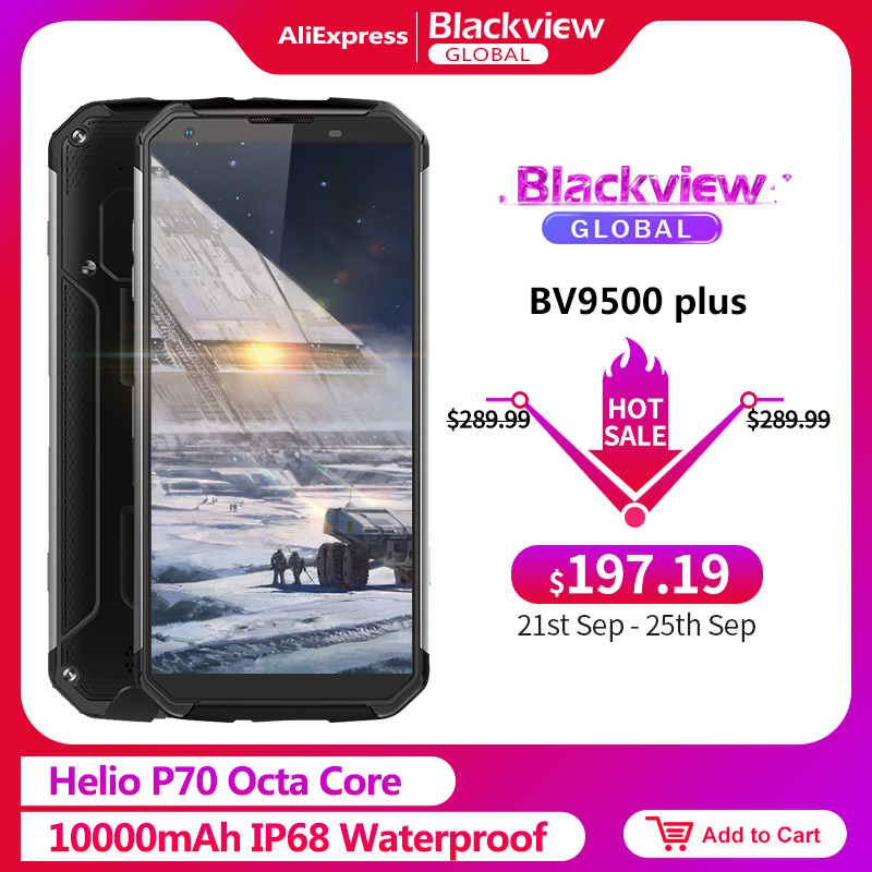 Blackview BV9500 4GB 64GB Plus Helio P70 Nfc Quick Charge 3.0 Octa Core Fingerprint Recognition