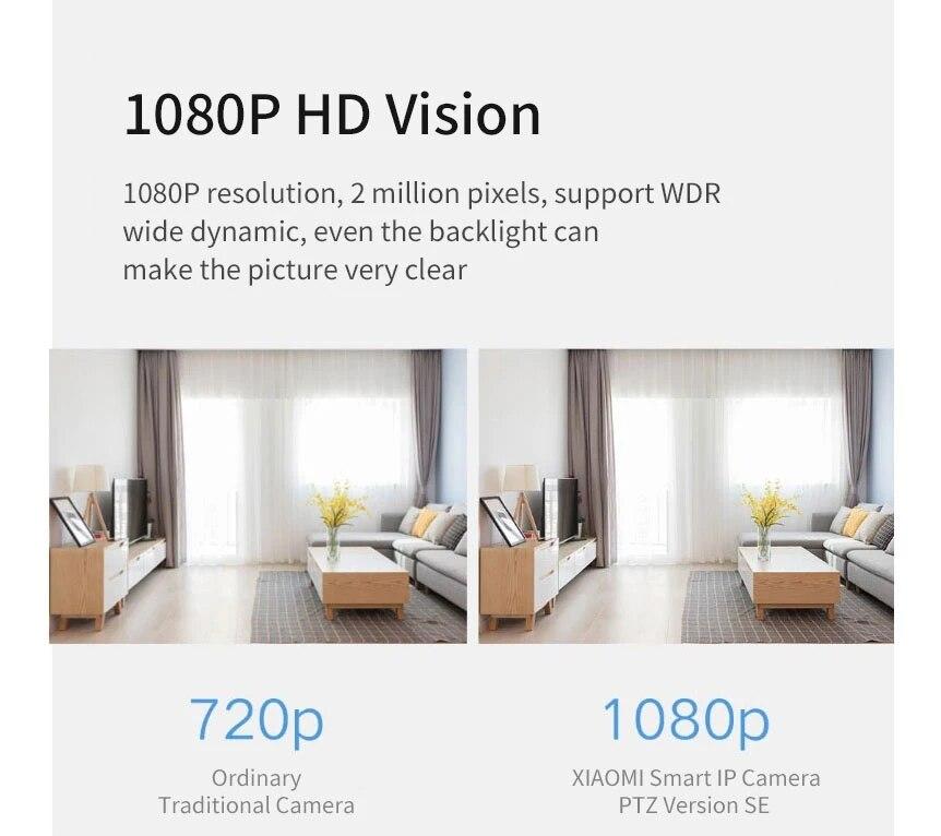 Xiaomi Smart PTZ SE IP Camera 1080P HD 360° Panorama Humanoid Monitoring Infrared Night Vision WiFi Camera Mijia APP Control