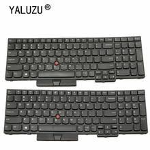 YALUZU NOVO Inglês EUA Teclado para ThinkPad E580 E585 E590 E595 L580 L590 T590 FRU 01YP560 01YP640 01YP720 P52 P72