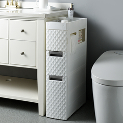 18CM Width Storage Drawer Shelf Plastic Bathroom Toilet Cabinet  Drawer Dividers Adjustable Sundries with Pulley Eco-Friendly