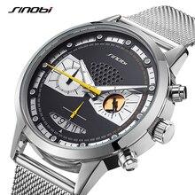 Sinobi Man Fashion Casual Watch Creative Chronograph Male Clock Sports Quartz Wrist Watches Original Owl Design erkek kol saati