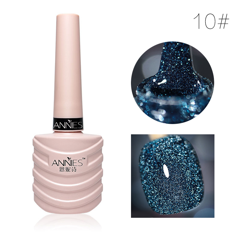 10ml Glitter Nail Gel Polish Nail Art Decoration Crystal Diamond Powder Gel Silver Nail Polish Soak Off UV Gel Polish TSLM2 10