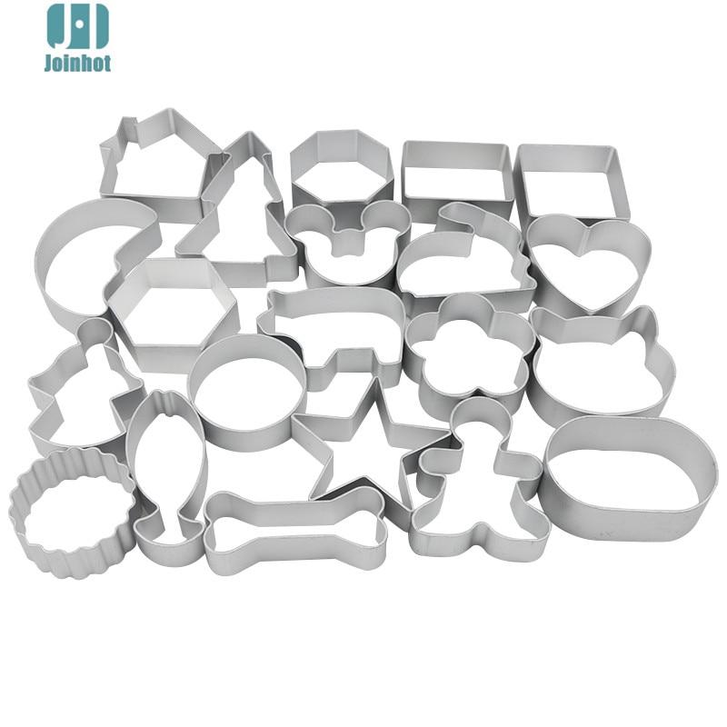dropshipping Cute cartoon apple Shape Cookie Frame Cake Aluminum Alloy Mold DIY Cooking Metal Cutter 44 designs