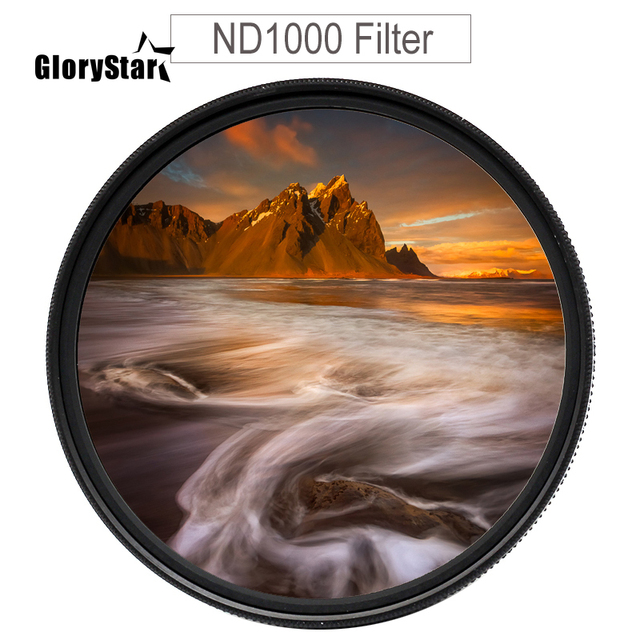 ND32 ND64 ND400 nd1000 nd2000 ND Glass Neutral Density Lens Filter 37/49/52/55/58/62/67/72/77/82 mm for canon nikon SONY dslr 6