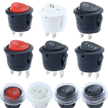 1 szt 22mm średnica małe okrągłe przełączniki łodzi czarny Mini okrągły czarny biały czerwony 2Pin 3Pin ON-OFF ON-OFF-ON przełącznik kołyskowy tanie i dobre opinie 1YEAR Z tworzywa sztucznego KCD1-2 Kołysko-