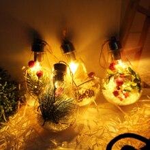 Рождественские декоративные ночные огни Светодиодный лампочки DIY рождественская елка, праздничный висячая лампа-светильник подвесные украшения для дома и сада