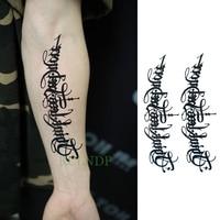 Waterproof Temporary Tattoo Sticker Tribal totem band Fake Tatto Personality Flash Tatoo Waist Arm Foot Tato for Girl Women Men