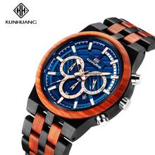 The Mens' Watches Wood Quartz Watches Ma