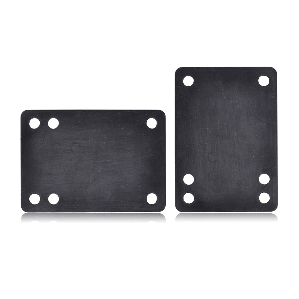 2PCS Durable Universal Black Protection PU Damping Soft Skateboard Gasket Six Holes Accessory Longboard Cushion Riser Pad Spacer