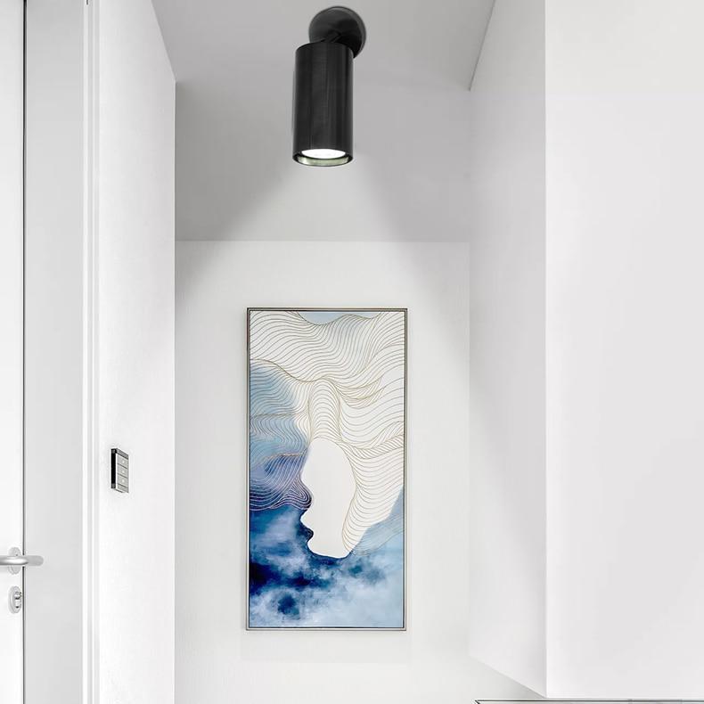 H3cb2cd6d677d4a948d1e472d48669392S Artpad Golden Modern Ceiling Light Neutral White Lighting TV Backdrop Living Room Hotel Office Club Bar Cloth Store Ceiling Lamp