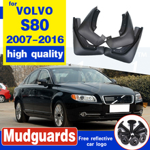 Set Molded Car Mud Flaps For VOLVO S80 2007-2016 Mudflaps Splash Guards Mud Flap Mudguards Fender 2015 2014 2013 2012 2011 2010 molded mud flaps for changan cx20 2011 2019 2012 2013 2014 2016 2017 mudflaps splash guards mud flap front rear mudguards fender