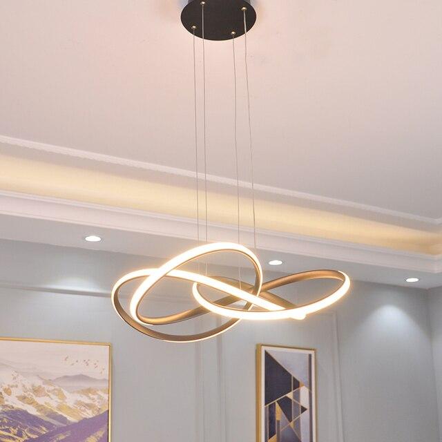 Black/White modern led chandelier lighting for living room bedroom restaurant kitchen pendant chandeliers home indoor lighting