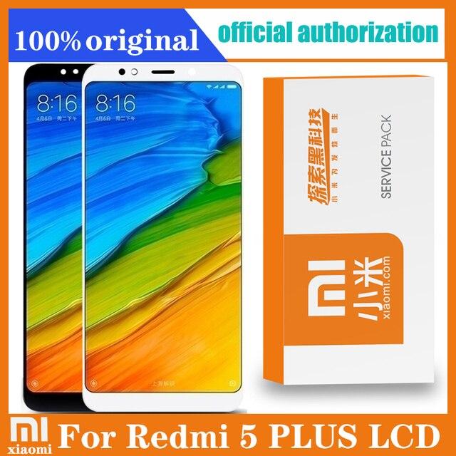 "Originele 5.99 ""Display Vervanging Voor Xiaomi Redmi 5 Plus Lcd Touch Screen Digitizer Vergadering Met Retail Pack"