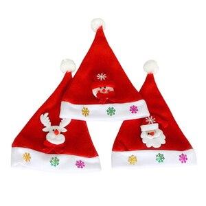 1 шт., новые рождественские шапки, Детский костюм для взрослых, Санта-Клаус, снеговик, олень, праздничная шляпа, украшение для Navidad, подарок на ...