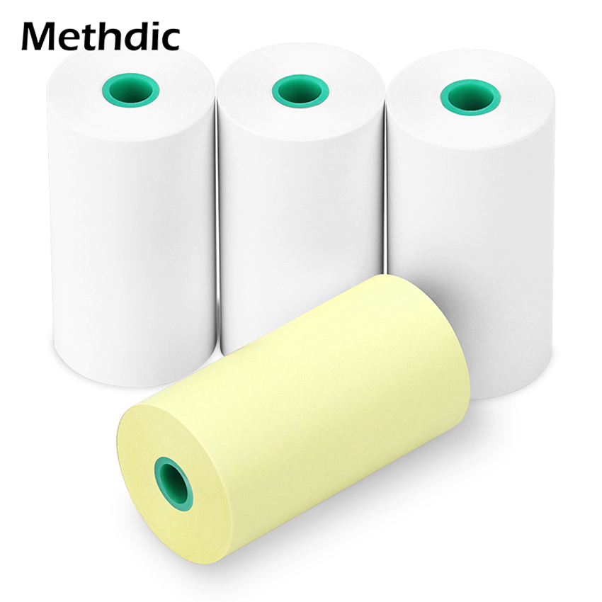 Methdic Three White And One Color Cash Register Roll 57 X 30mm For POS