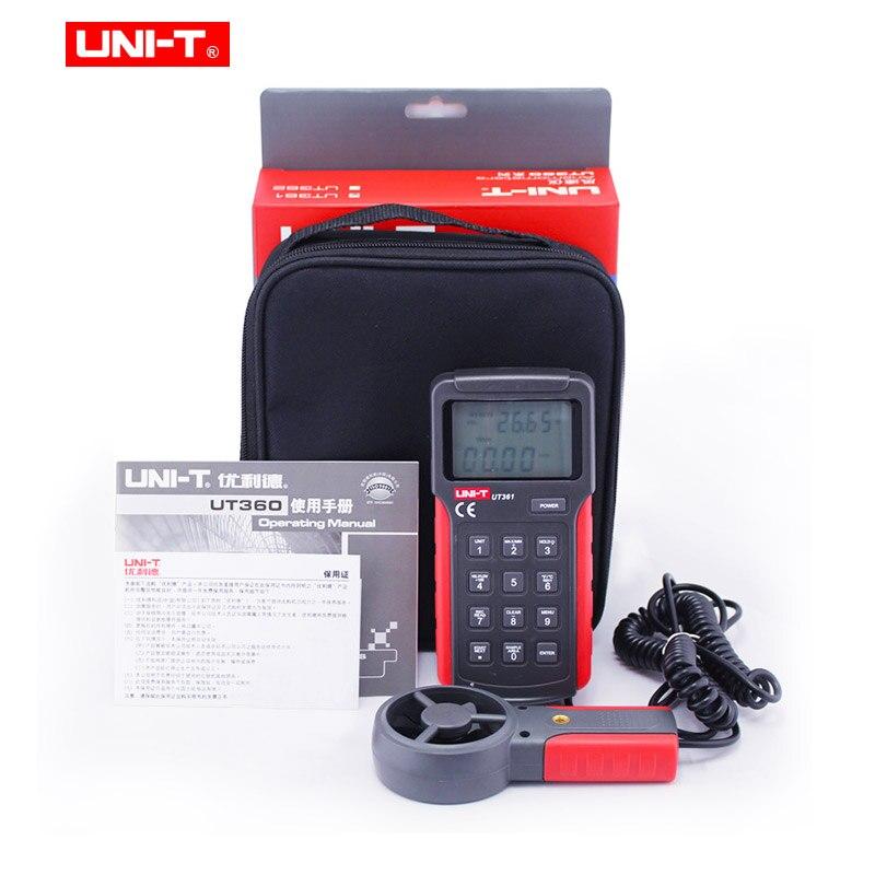 UNI-T UT361 UT362 Profession compteur de vitesse du vent numérique tachymètre Anemoscope 2-30 m/s anémomètre de Type divisé avec stockage de données - 6