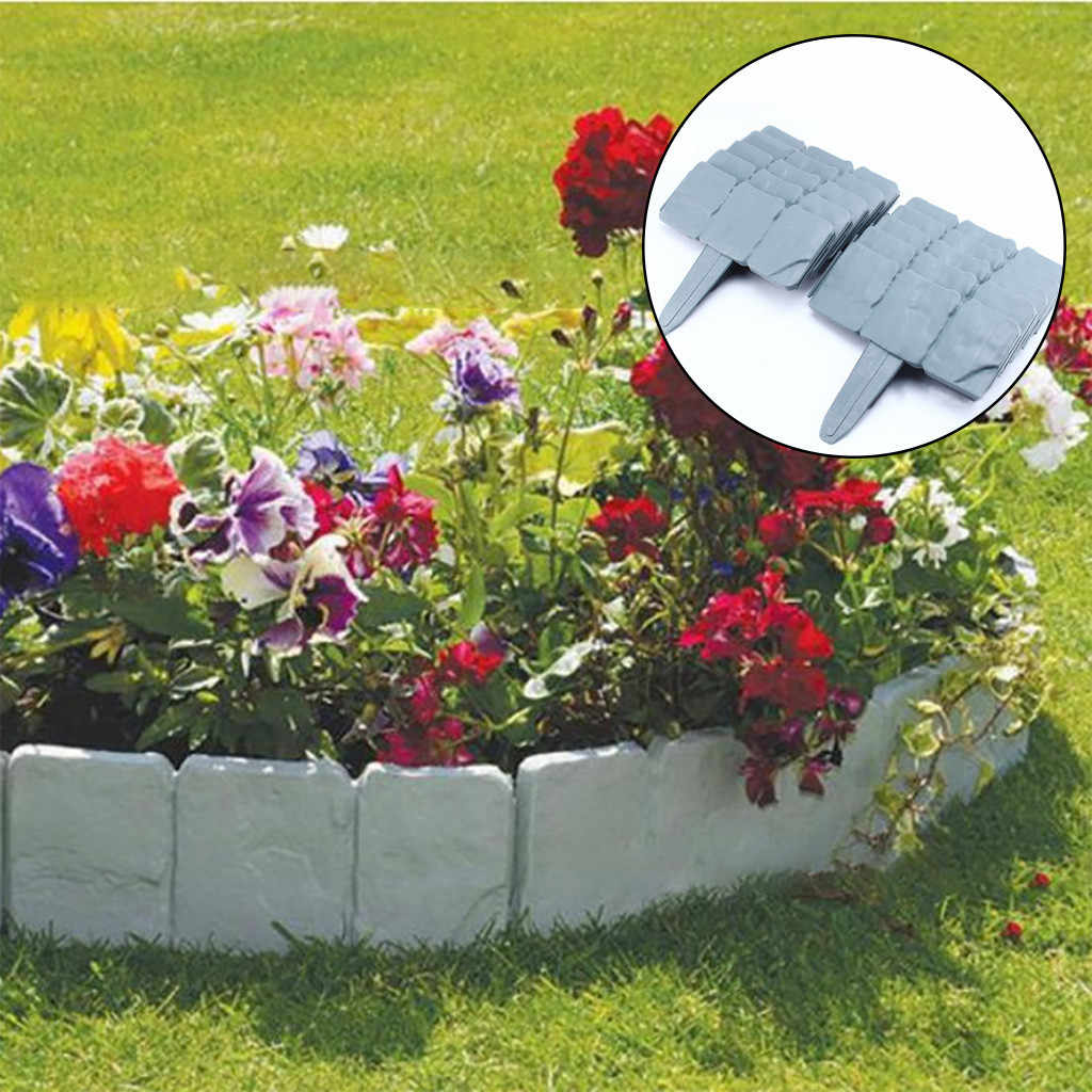 2019 New Home Garden Border Edging Plastic Fence Stone Lawn Yard