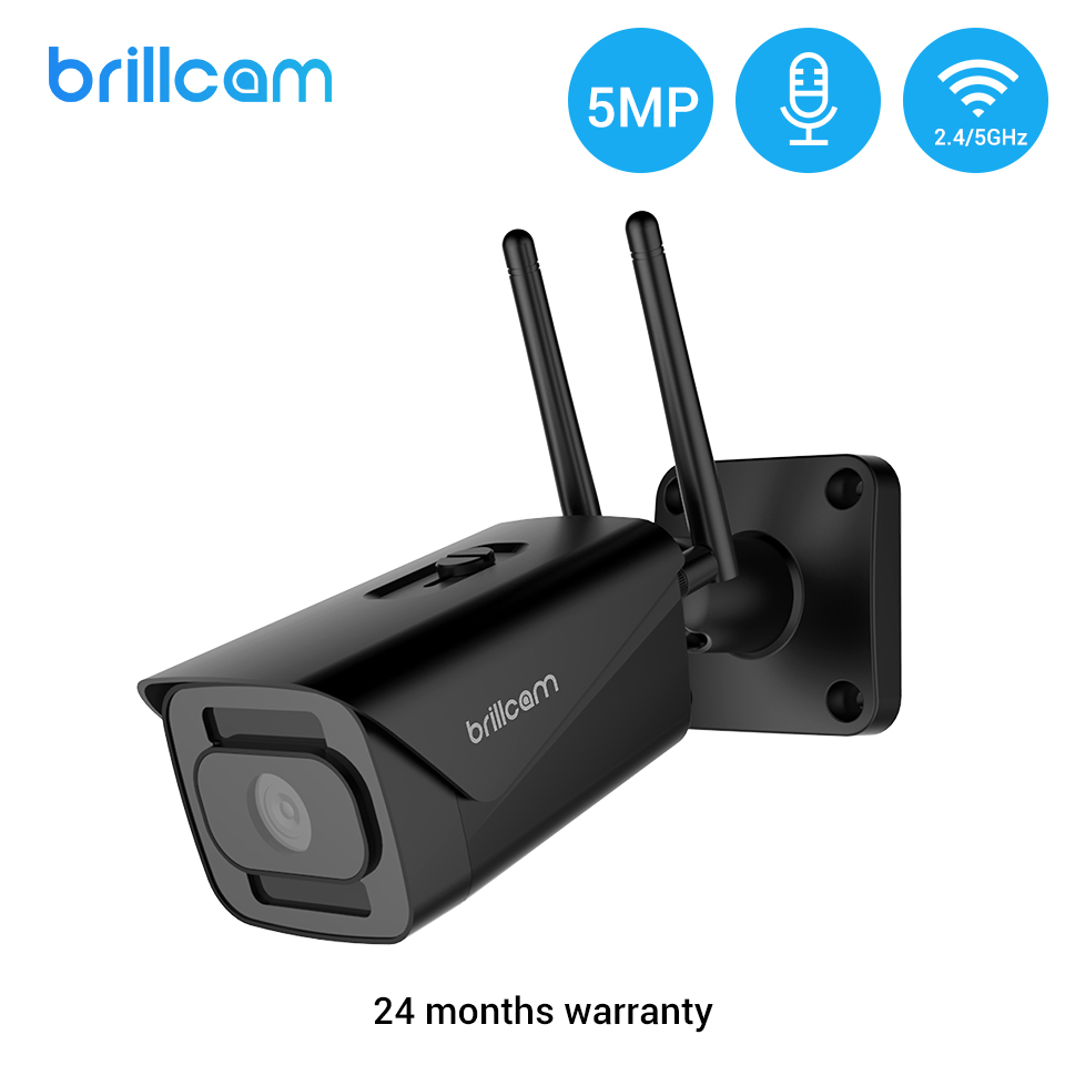 Brillcam 5MP IP Camera Wifi Outdoor IP67 IR Night Vision ONVIF Wireless CCTV Camera Motion Detect Security Smart Wifi Camera IP