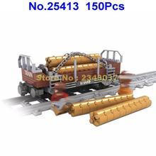 Ausini 25413 150 шт городской поезд железная дорога пиломатериалы строительный блок 2 фигурки игрушки