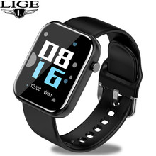 LIGE Electronic Watches Men Sports Watch Women Pedometer LED