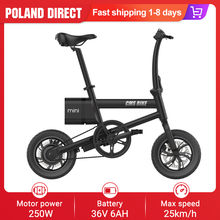 Electric-Bike Folding Mini 250W Max-Speed 12inch 36V 6AH with Led-Power-Display Tires