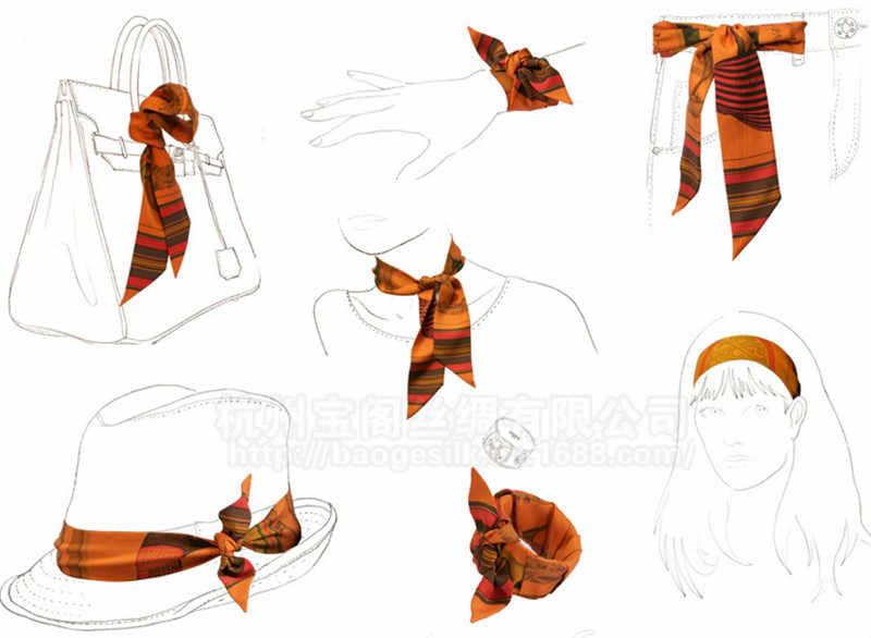 Multifunzione Lungo Nastro Bandana Donne Ragazze Turban Della Fascia Dei Capelli Fascia Capa Wrap Accessori per Capelli Capelli Ornamenti Hairband Copricapo