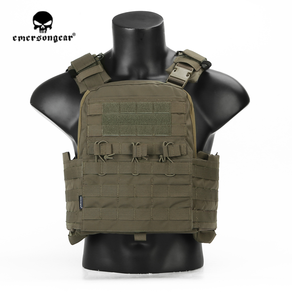 Emersongear Emerson CPC Plate Carrier MOLLE Combat Ranger Green Tactical Vest Protective Hunting Carrier Duty Body Armor