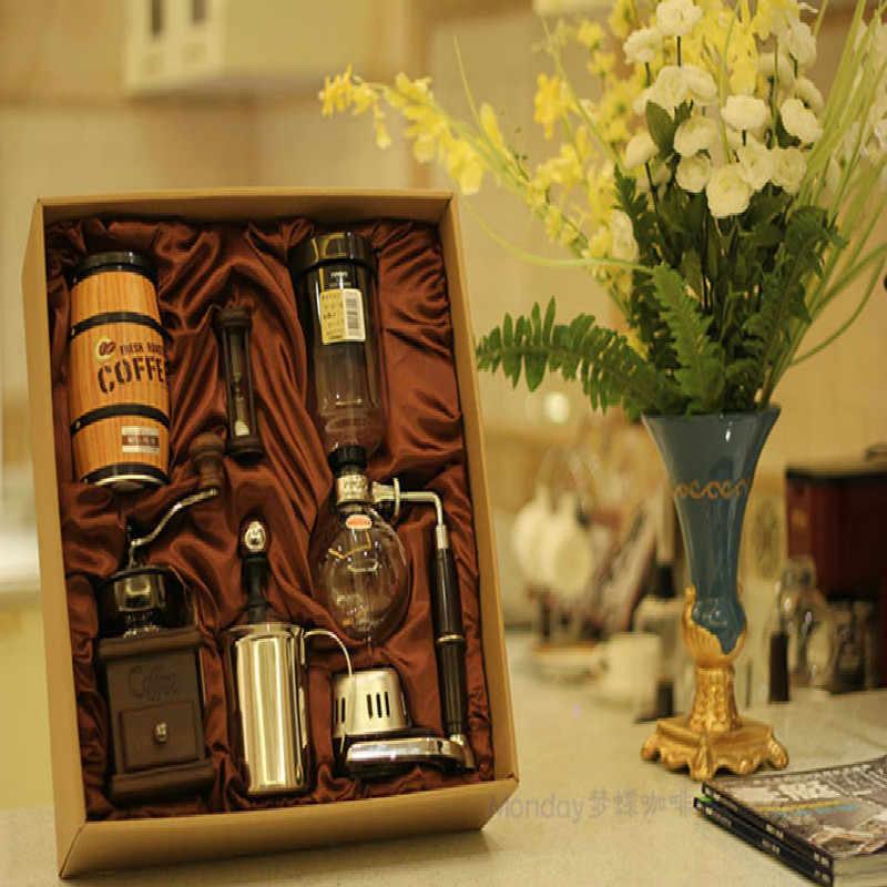Siphon Kopi Gift Pack Kopi Mesin Kaca Teko Kopi Bisnis Termasuk Hand Mill Susu Frother Mengirim Teman-teman