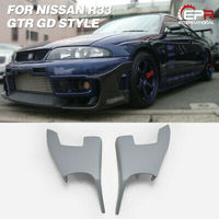 For Nissan R33 Skyline GTR GD Style FRP Fiber Black or Grey Unpainted Front Bumper Canard Car Exterior Body accessories kits