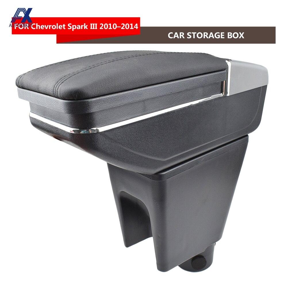 Подлокотник для Chevrolet Spark III 2010 2014 Daewoo Matiz черная кожаная Центральная новый ящик для хранения модификации Функциональная панель Запчасти Подлокотники      АлиЭкспресс