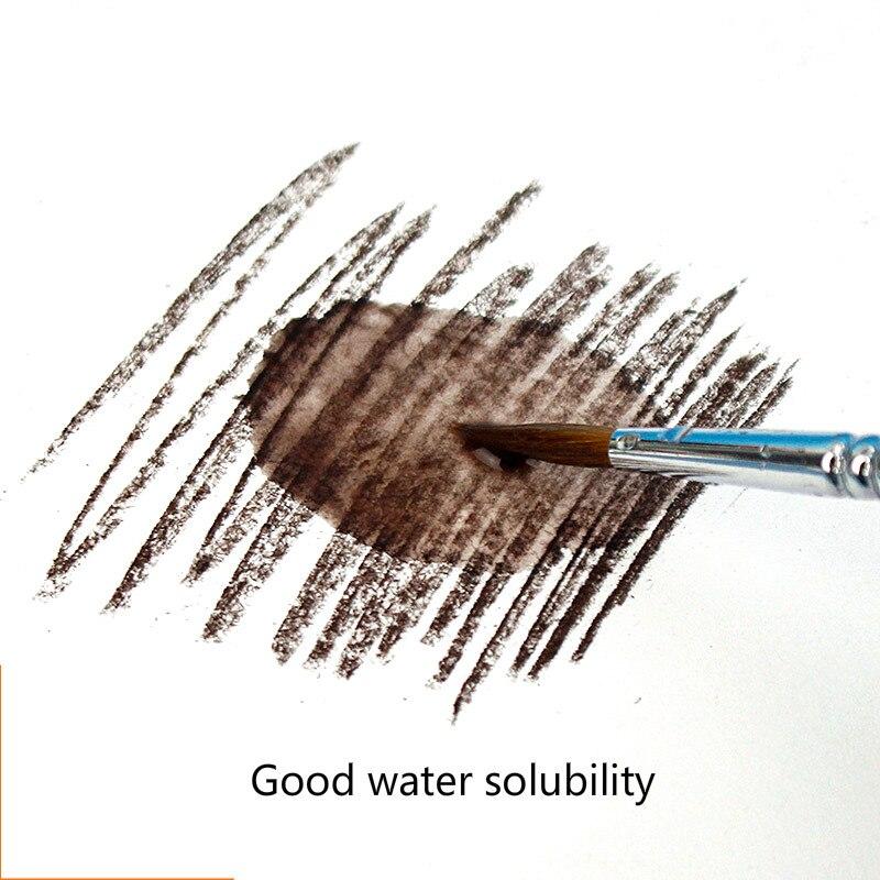 Черный уголь, брусок коричневый темно-серые растворимые в воде черный угольный карандаш дизайн Тип карандаш для рисования скетчей Рисование набросков расходные материалы