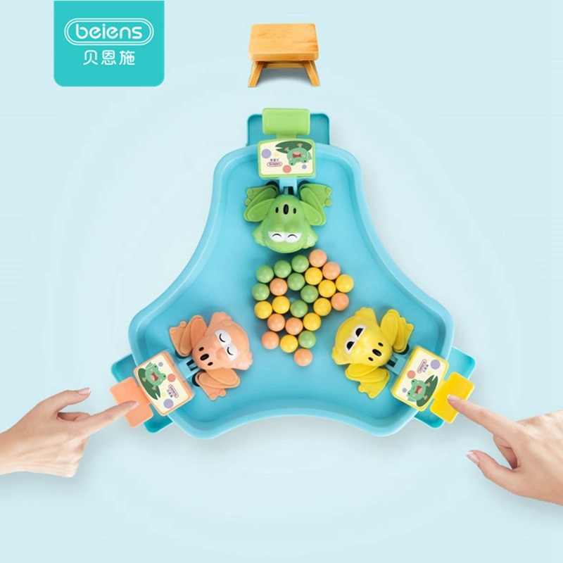 Beiens 2019 Party Games Greedy Frog Eating Bean Toys Broad Games Toys For Children Multiplayer Tnteractive Toy Family Table Game