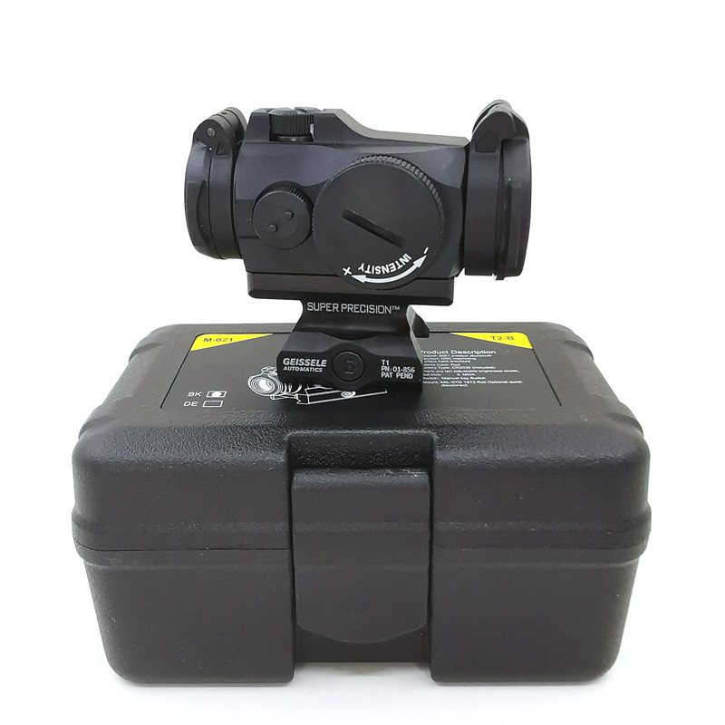 SOTAC-GEAR Tactical Rifescope Sight 2MOA T2 Sight Illuminated Sniper Red Green Dot Sight With Quick Release Red Dot Scope 6