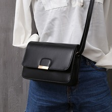 Women's Fashion Leather Simple Solid Handbag Small Shoulder Bags